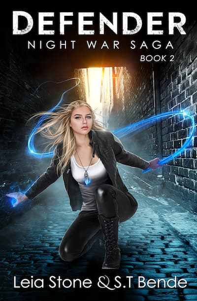 Book cover for Defender by S.T. Bende and Leia Stone