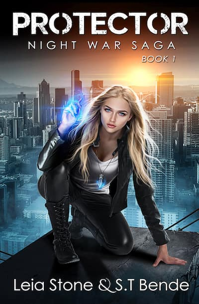 Book cover for Protector by S.T. Bende and Leia Stone